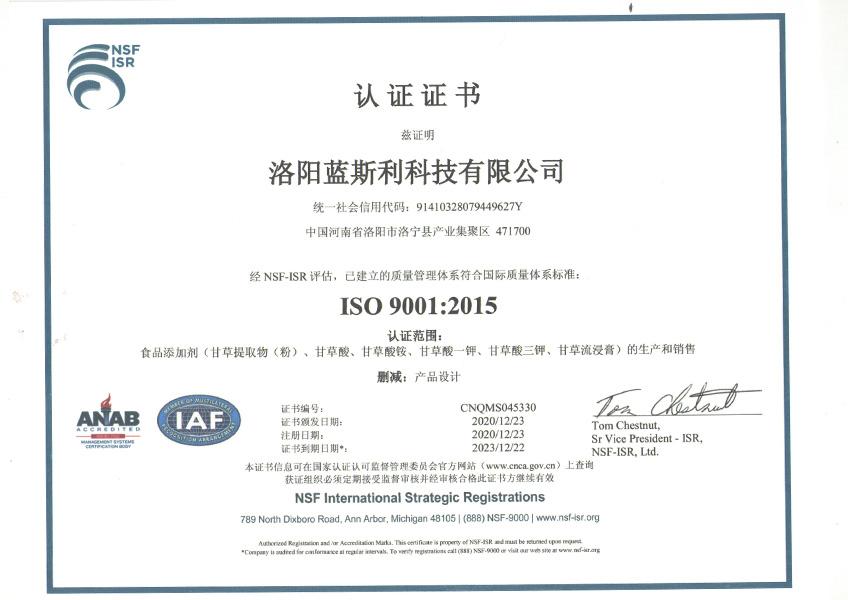 ISO9001中文版 2021
